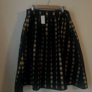 Gold plaid Ann Taylor Skirt